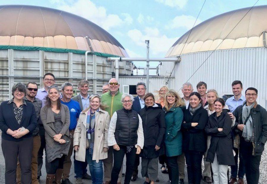 WA state delegation at Solrød Biogas Bigadan i SUSTAIN